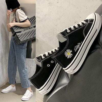 giày vải Giày vải nữ 2020 mùa xuân mới hoang dã Sinh viên Hàn Quốc Giày trắng nhỏ Giày đế bằng nữ