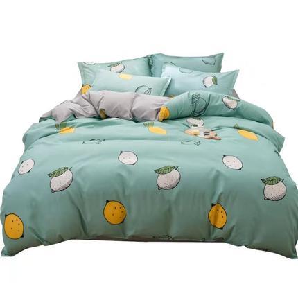 Bộ drap giường  Nam Cực net đỏ bốn mảnh giường ký túc xá đơn sinh viên khăn trải giường chăn ba mản