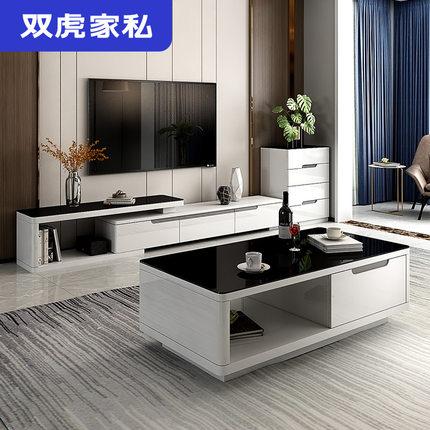Sunhoo Ghế Sofa Nội thất Shuanghu Sofa vải đơn giản phòng khách hiện đại nhà nhỏ căn hộ sofa bàn cà