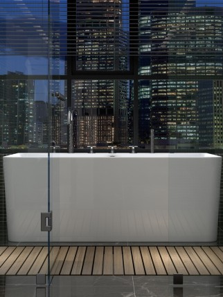 Bồn tắm Bồn tắm nhà người lớn tự do acrylic phòng tắm bồn tắm bong bóng sâu tắm nhỏ căn hộ bong bóng