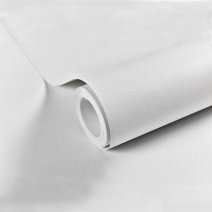 Giấy dán tường  Giấy dán tường tự dính màu trắng không thấm nước 10 mét hình nền phòng ngủ ấm áp ký