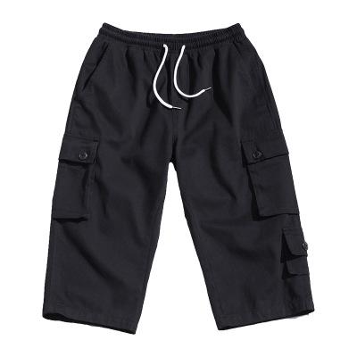 Quần Casual Gió Hồng Kông 2020 xu hướng hè mới giản dị thời trang hoang dã overalls túi ba chiều cắt
