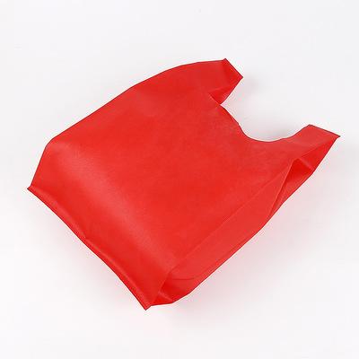 JIEFENG Túi xốp 2 quai Nhà sản xuất túi không dệt vest tùy chỉnh LOGO siêu thị túi vest bảo vệ môi t