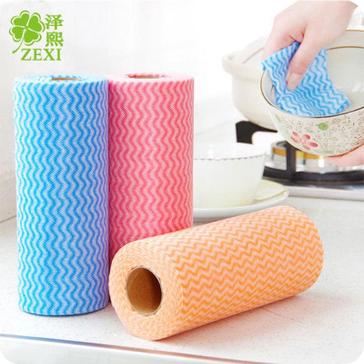 ZEXI Khăn rửa chén T2128 Zexi Nhà bếp Không dệt Vải không màu Nước rửa chén Đồ dùng nhà bếp Khăn khô