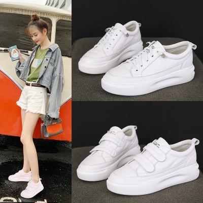 Giày Sneaker / Giày trượt ván Lớp đầu tiên của đôi giày da nhỏ màu trắng đôi giày nữ đế dày bằng da