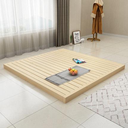 Ván gỗ  Gỗ cứng nệm cứng nệm gỗ eo giường khung 1,5 đôi 1,8 m chiếu hàng sàn xương giường có thể đượ