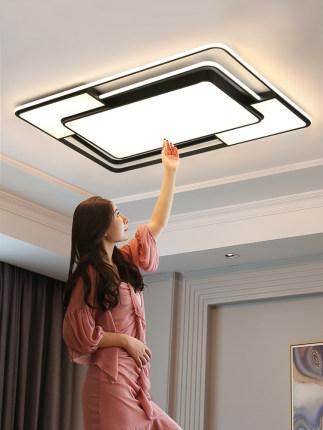đèn ốp trần Đèn phòng khách đơn giản hiện đại bầu không khí led trần 2020 phù hợp mới toàn bộ gói đè