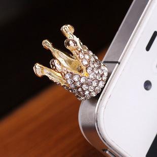 Nút cắm chống bụi Đồ trang sức Hàn Quốc Nhỏ và đơn giản Điện thoại di động bụi cắm đầy đủ Kim cương