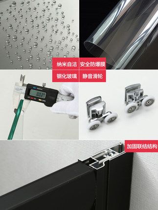 Bồn đứng tắm  Không gian nhôm tùy chỉnh tổng thể phòng tắm phòng tắm nhà vệ sinh màn hình kính cường