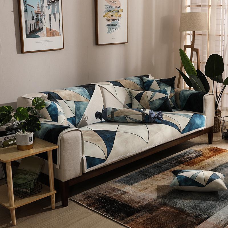 FEISITE Đệm lót SoFa Sofa đệm đơn giản hiện đại Bắc Âu bốn mùa phổ vải chống trượt đệm phòng khách k