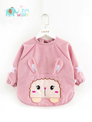 Áo khoác  Áo chống thấm nước cho bé chống bẩn mùa thu và mùa đông bé gái chống mặc yếm tối quần áo b