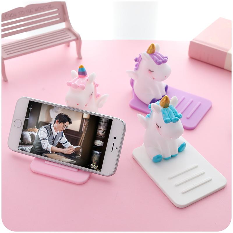 SHIMEILUO phụ kiện chống lưng điện thoại Sáng tạo PVC mềm lười hoạt hình điện thoại di động khung kỳ