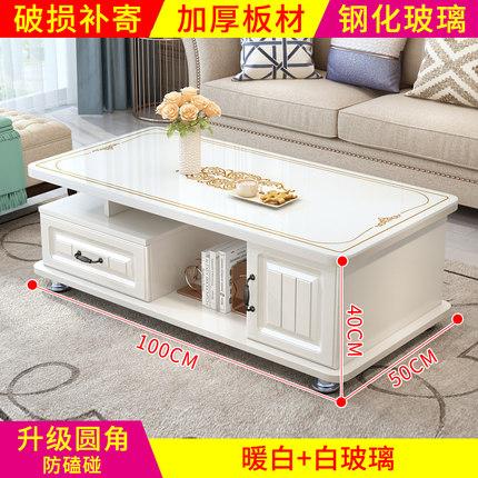 thuỷ tinh Bàn kính cường lực châu Âu hiện đại tối giản phòng khách TV tủ kết hợp bàn trà bàn nhỏ hộ