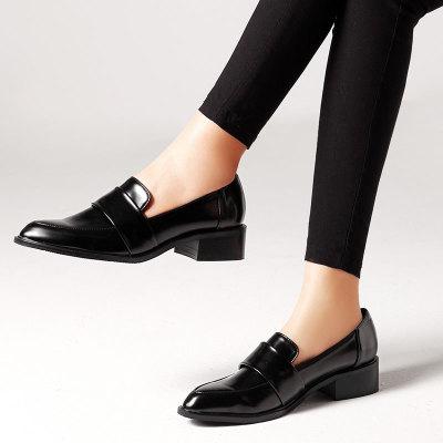 oullis Giày Loafer / giày lười Bán nóng xuyên biên giới giày đơn nữ Châu Âu và Mỹ ngoại thương hoang
