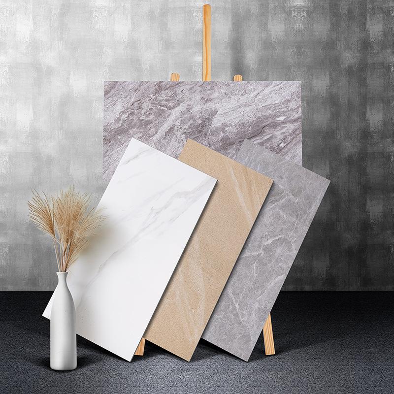Gạch men sứ Tấm trung bình toàn bộ gạch ốp tường phòng khách ốp tường 400x800 toàn thân bằng đá cẩm