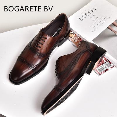 BOGARETE BV Giày da Bán buôn 2020 mùa xuân và mùa hè mới kinh doanh nam chính thức mang giày da lớp