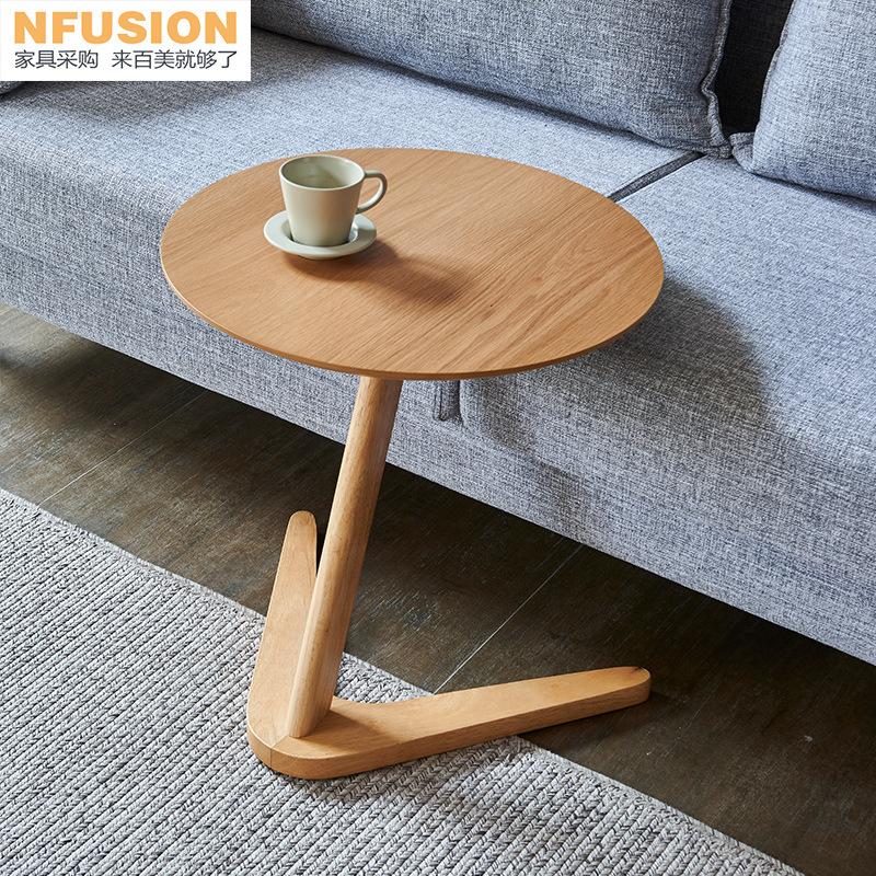 NFUSION Gỗ rắn Bắc Âu bàn cà phê nhỏ đặc biệt đa chức năng căn hộ nhỏ sáng tạo góc tròn vài mặt Bàn