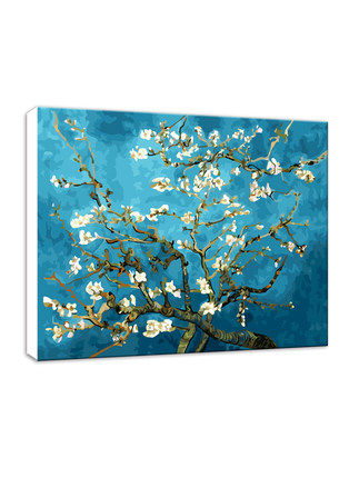 Tranh trang trí  Tự vẽ tranh sơn dầu kỹ thuật số tự làm người lớn vẽ tay màu sơn dầu vẽ tay trang tr