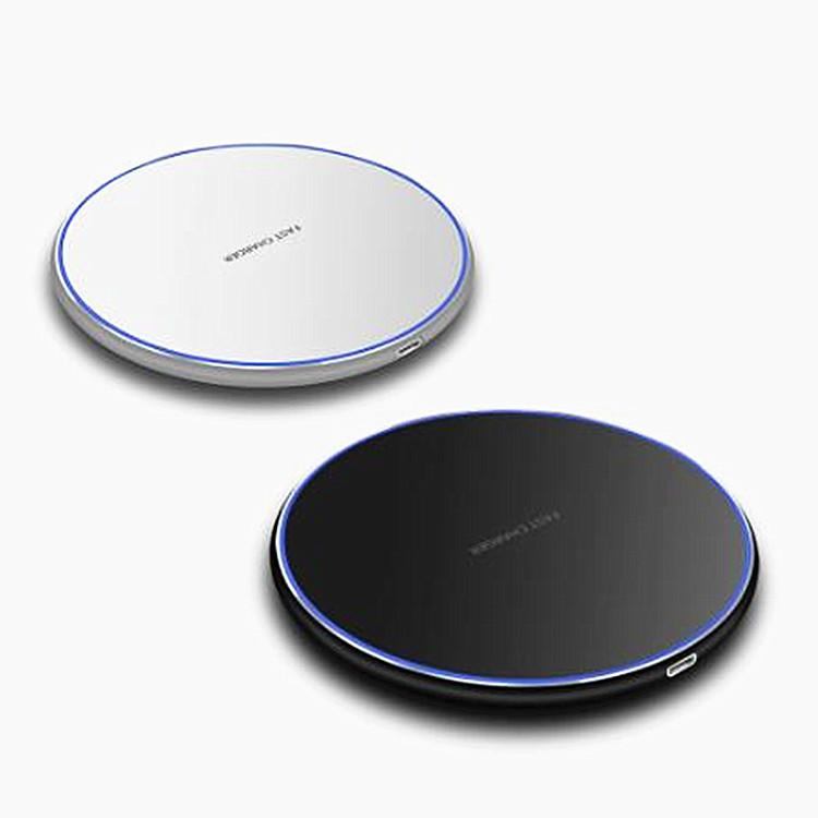 TUYU Cục sạc Nhà máy trực tiếp Smart QI Bộ sạc không dây Kim loại Máy tính để bàn tròn đơn giản Điện