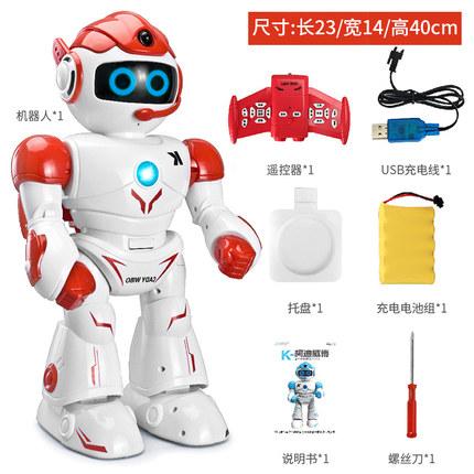 JJR / C Rôbôt  / Người máy  Robot đồ chơi đối thoại thông minh bé trai điều khiển từ xa câu đố giáo
