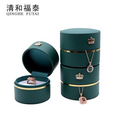 QHFN Hộp trang sức Cao cấp vòng lưu trữ đồ trang sức hộp sáng tạo vương miện vòng cổ bao bì hộp hiển