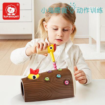 topbright Đồ chơi bằng gỗ Kho báu chim gõ kiến đặc biệt đồ chơi bắt côn trùng cho chim ăn gà bắt côn