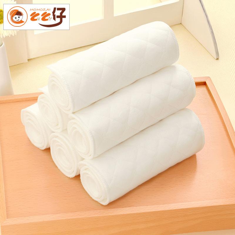MEMEZAI Tả vải Tã giấy Meme No huỳnh quang White Eco Cotton 3 lớp / 6 lớp / 9 lớp tã trẻ em không nắ