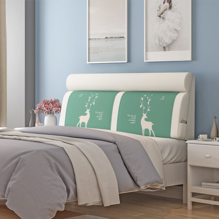 Vải ốp tường súng chính đệm đầu giường vải Bắc Âu đầu giường mềm mại túi mềm lớn trở lại đệm đầu gi