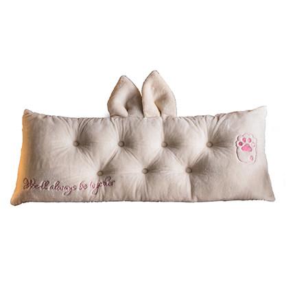 Vải ốp tường  Giường ngủ đệm mềm gói lớn trở lại phòng ngủ đôi có thể tháo rời có thể giặt lưới màu
