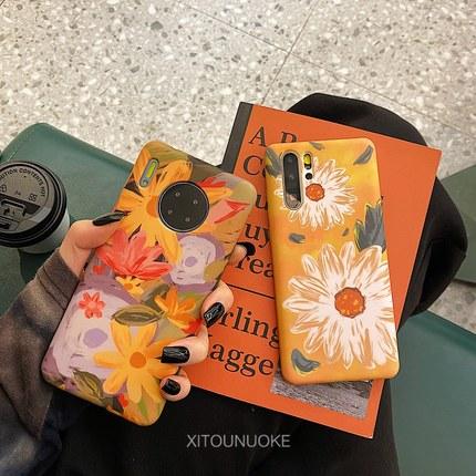 X-IT bao da điện thoại Tranh sơn dầu nghệ thuật cho mate30 Vỏ điện thoại di động Huawei p30pro mate2
