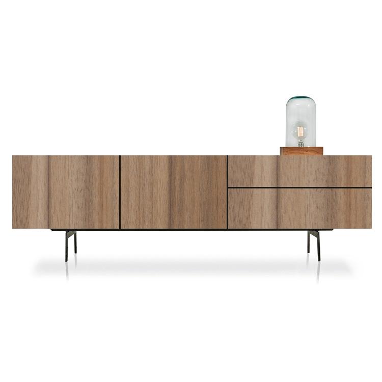 ZHUOHE Kệ Tivi Ánh sáng Bắc Âu sang trọng tủ tivi bàn cà phê kết hợp căn hộ nhỏ gỗ rắn sơn âm thanh