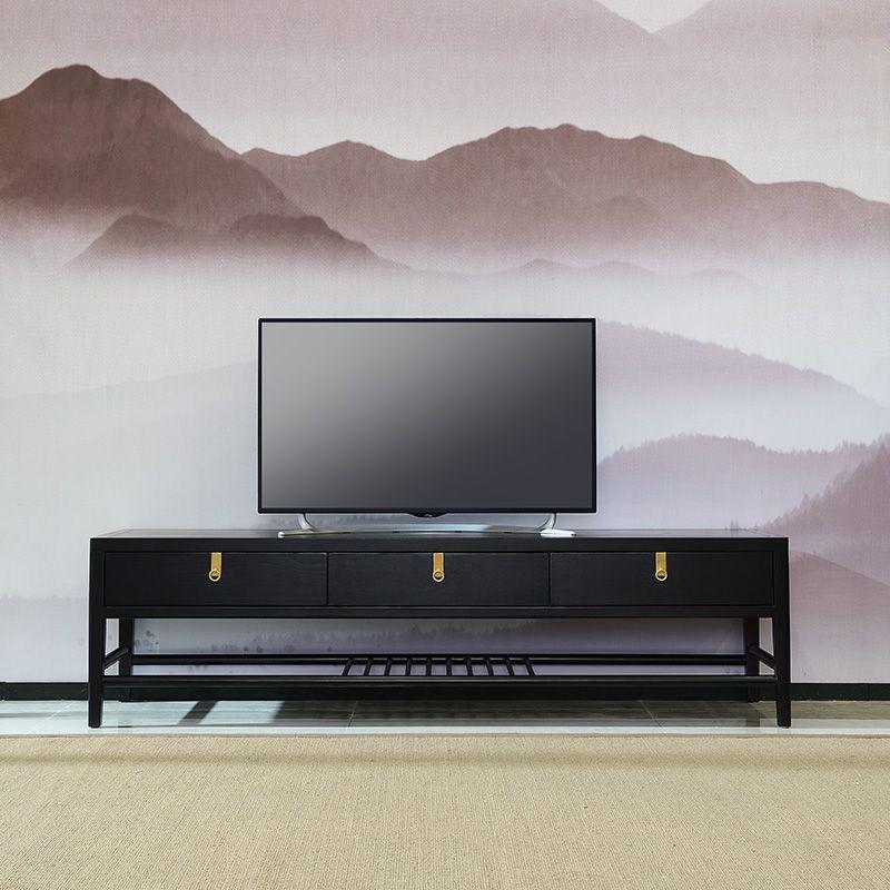 KEJIANG Kệ Tivi Mới Trung Quốc TV tủ hiện đại tối giản gỗ rắn phòng khách 2 mét sàn tủ lưu trữ đồ nộ