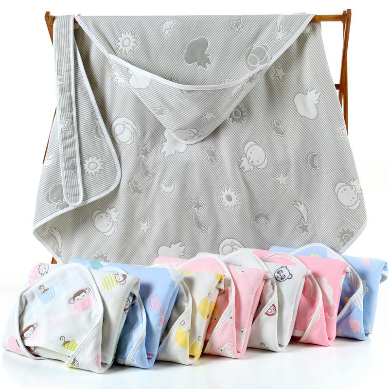 JINSHANG Khăn quấn Bán buôn khăn tắm cho bé sơ sinh sáu lớp gạc bông nguyên chất