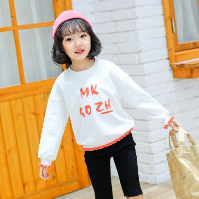 MOKAGONGZHU Sweater (Áo nỉ chui đầu) Xu hướng thời trang ren ngọt ngào cho trẻ em áo len cotton dài