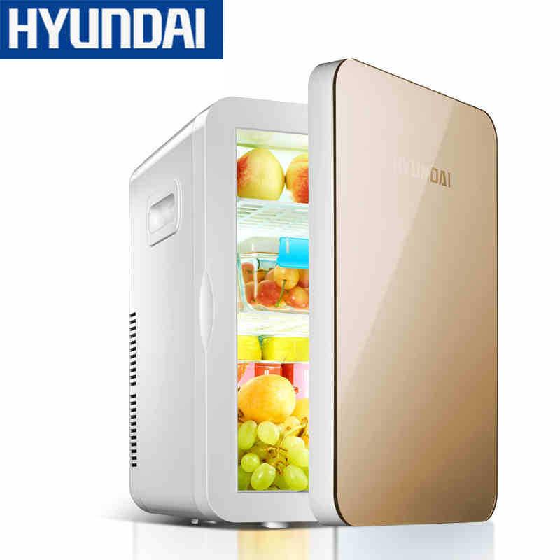 HYUNDAI tủ lạnh xe hơi Hyundai 20L Tủ lạnh ô tô Mini Tủ lạnh nhỏ Hộ gia đình Ký túc xá Xe hơi gia đì