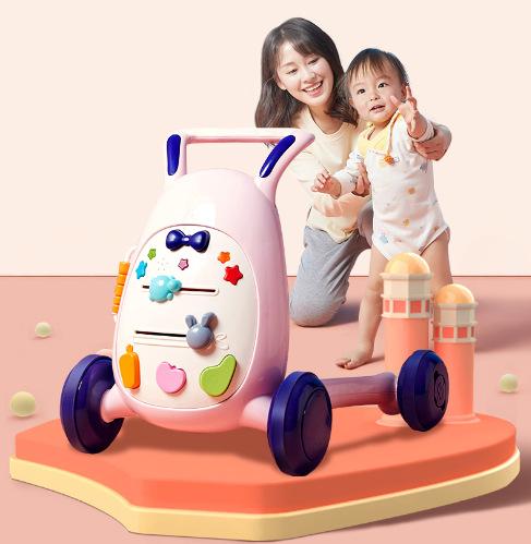 LULALU Xe tập đi Xe đẩy trẻ em 0-2 tuổi đa chức năng điều chỉnh tốc độ chống rollover walker