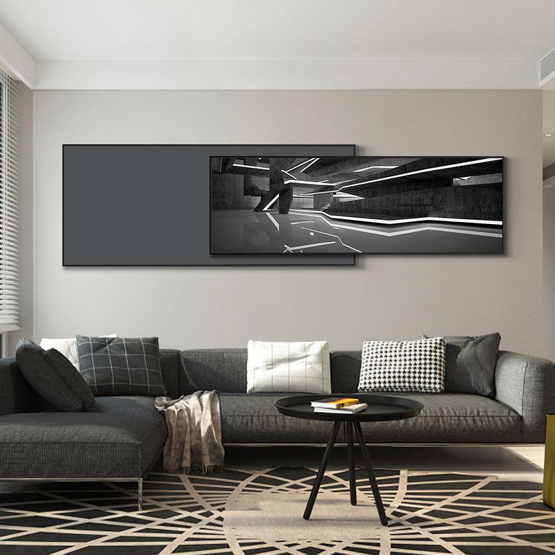 FANTU Tranh trang trí Hiện đại tối giản phòng khách trang trí bức tranh trừu tượng khí quyển banner