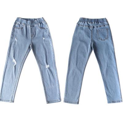 JIANBOBEIER quần Jean Quần jean bé trai thu đông 2019 xu hướng trẻ em trung niên trẻ em quần jeans H