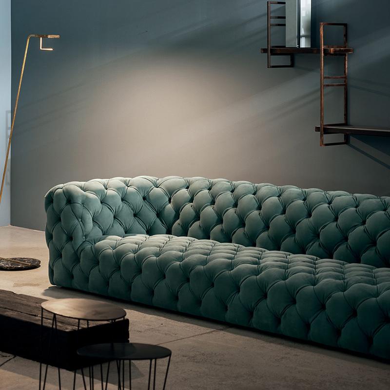 MUCHI Ghế Sofa Sofa Baxter Ý nhẹ sofa sang trọng sofa biệt thự sang trọng Ý da mờ khóa da đầy đủ sof