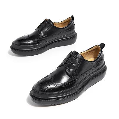 BEAUTODAY giày bánh mì / giày Platform 2020 Giày da nữ mới chính hãng Giày đơn đế đế phẳng Giày nhỏ