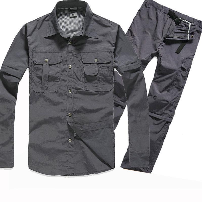 WUBIAO Quần áo mau khô Bán buôn trống không có áo sơ mi nam cắt nhanh tiêu chuẩn khô nhanh quần khô