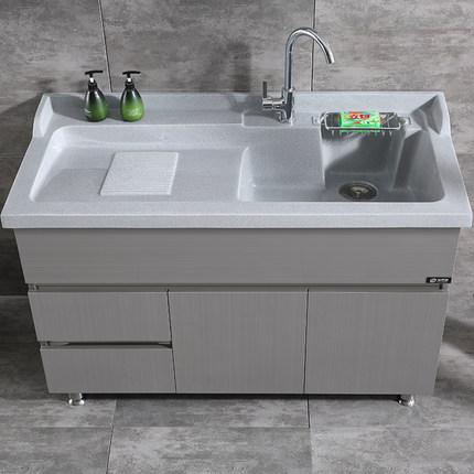 Inox Tủ phòng tắm  tủ giặt ban công tủ giặt chậu rửa hộ gia đình giặt bể bơi sàn phòng tắm kết hợp v