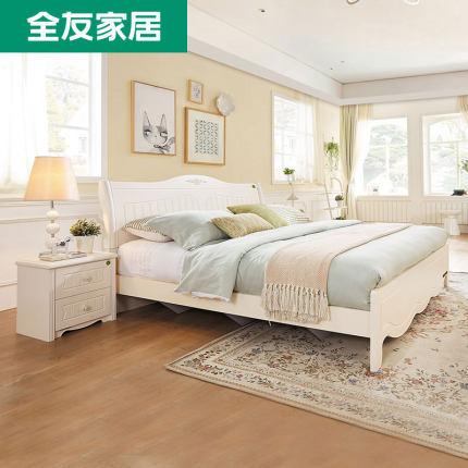 Quanyou giường Nội thất Quanyou giường đôi 1.8 Giường Hàn Quốc nội thất phòng ngủ chính cao 1,5m lưu