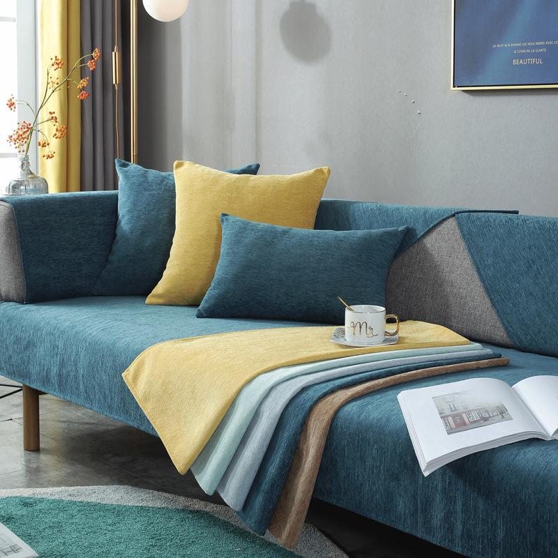 Đệm lót SoFa Chenille sofa đệm bốn mùa phổ vải đệm chống trượt Bắc Âu đơn giản hiện đại bao gồm tùy