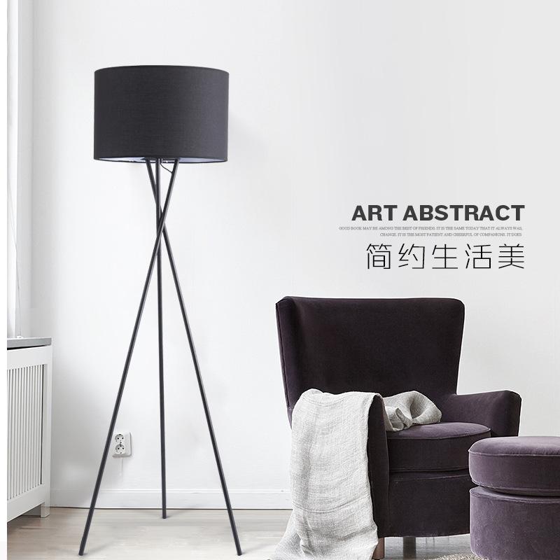 HM Đèn âm đất Bắc Âu đơn giản hiện đại đèn sàn phòng khách phòng ngủ nhà ở sofa đầu giường sáng tạo