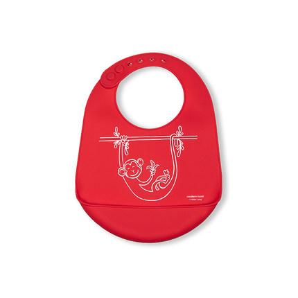 Moderntwist Khăn yếm  Baby Baby Silicone Bib Super Soft Bib Rice Rice Pocket Baby Food Thực phẩm bổ