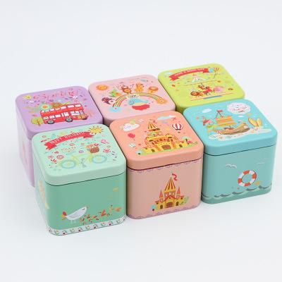 HAOPIN Hũ kim loại Tiehe net tùy chỉnh sô cô la sắt hộp vuông vuông nhỏ kẹo hộp kẹo cưới hộp thiếc c