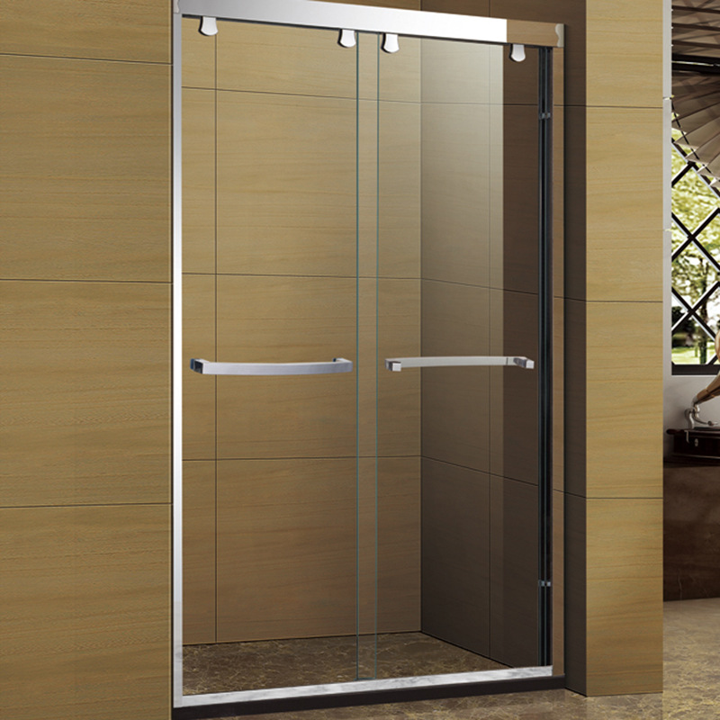 DUHUANG Nhà sản xuất bán buôn phòng tắm bằng thép không gỉ đôi cửa trượt phòng tắm kính phân vùng cử