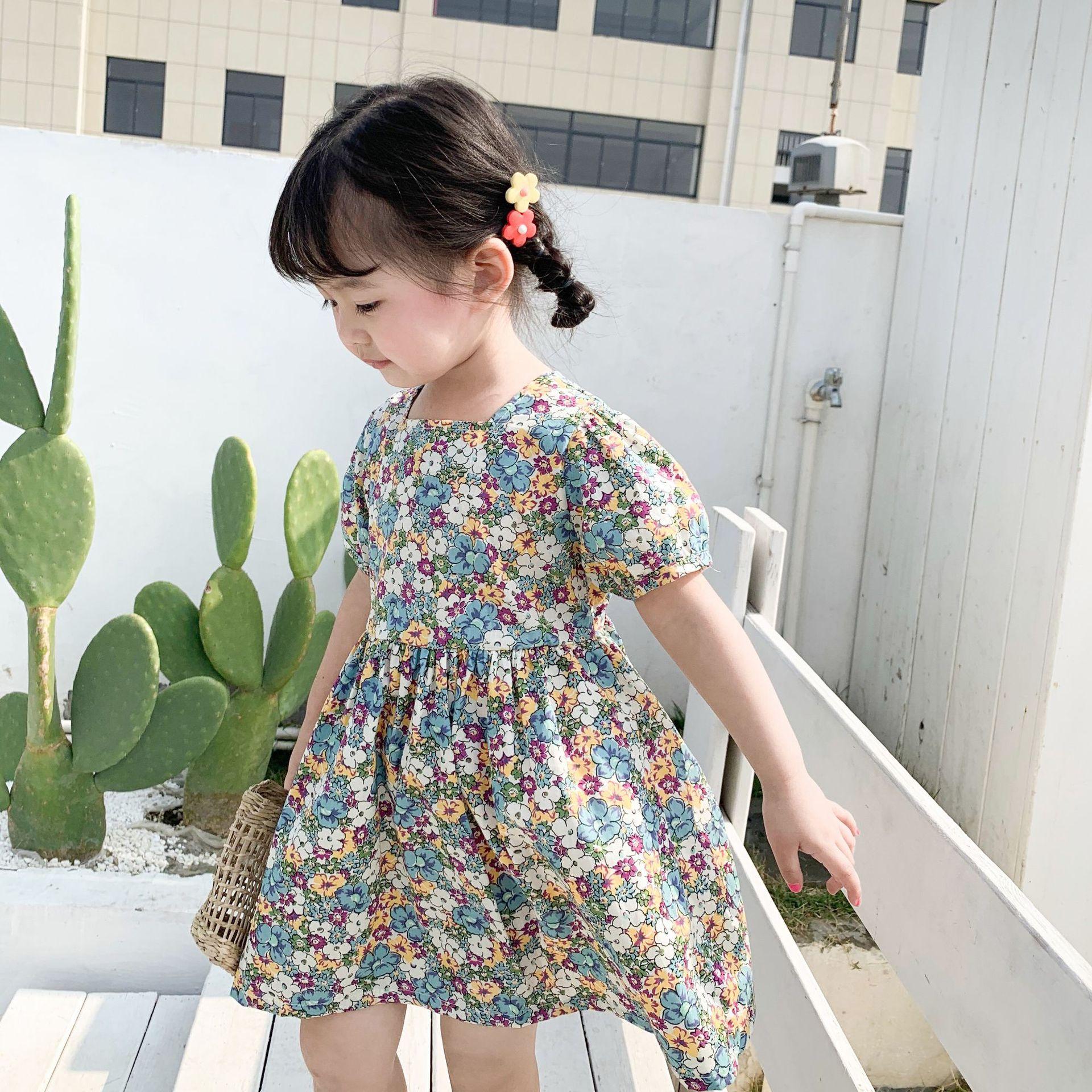 KMAN Trang phục trẻ em mùa hè Can Mi Anne 2020 quần áo trẻ em mùa xuân và hè Cô gái mới ăn mặc Bộ đồ