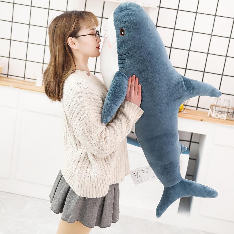 YIHAO Búp bê vải Mới sáng tạo phim hoạt hình dễ thương búp bê cá mập gối cô gái quà tặng kỳ nghỉ búp